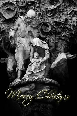 Stone Figurine Photograph - Merry Christmas by U Schade