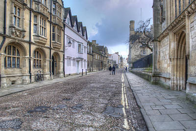 Photograph - Merton Street Oxford by Chris Day