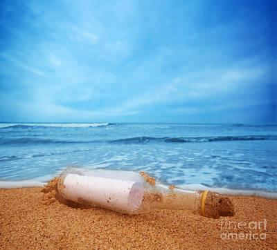 Bottle Photograph - Message In The Bottle by Michal Bednarek