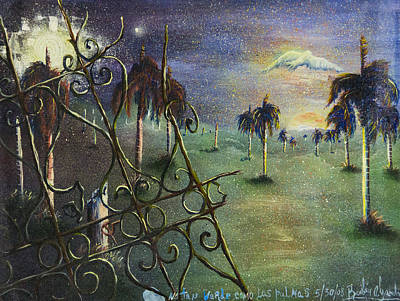 America First Party Painting - Metamorfosis De Palmas by Ruben Santos