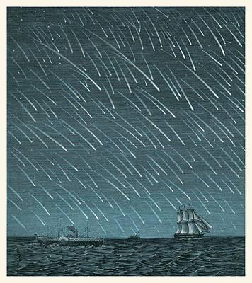Shooting Star Photograph - Meteor Shower by Detlev Van Ravenswaay