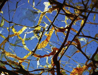 Thin Section Photograph - Meteorite Seymchan by Alfred Pasieka