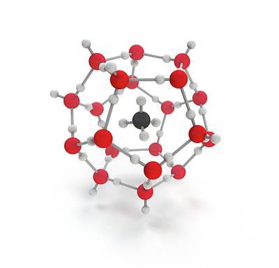 Methane Hydrate Molecule Art Print