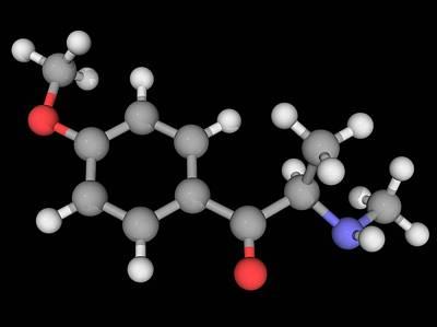 Methedrone Drug Molecule Art Print by Laguna Design/science Photo Library
