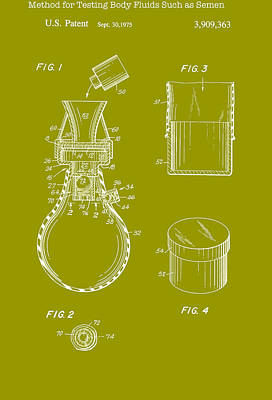 Methods Drawing - Method For Testing Body Fluids Patent 1975 by Mountain Dreams