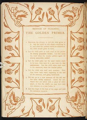 Method Of Teaching. The Golden Primer Art Print