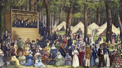 Methodists Painting - Methodist Camp Meeting by Granger