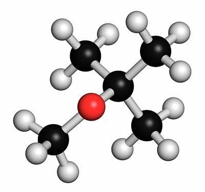 Methyl Tert-butyl Ether Molecule Print by Molekuul