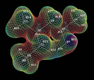Methylhexanamin Molecule Art Print by Alfred Pasieka