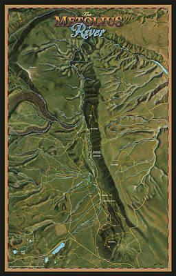 Metolius River Art Print by Pete Chadwell