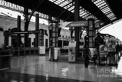 metrotren platforms in Santiago central railway station Chile Art Print by Joe Fox