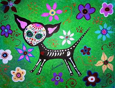 Painting - Mexican Chihuahua El Perrito by Pristine Cartera Turkus