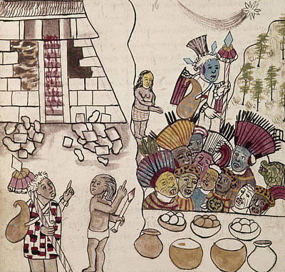 Tarascan Drawing - Mexico Indians, C1500 by Granger