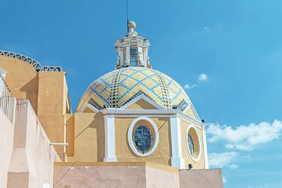 Mexico, Puebla, Cholula, Santuario De Art Print by Rob Tilley