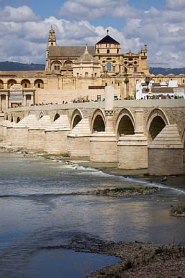 Medieval Temple Photograph - Mezquita And Roman Bridge In Cordoba by Artur Bogacki