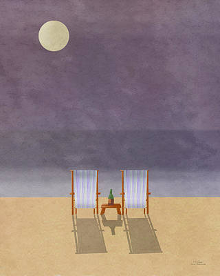 Chair Drawing - Mgl - Bathers And Coast 04 by Joost Hogervorst