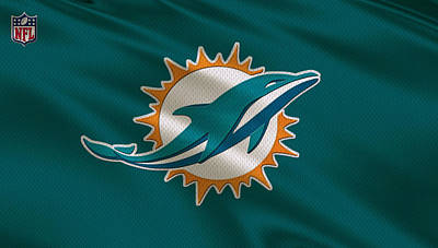 Miami Dolphins Uniform Art Print