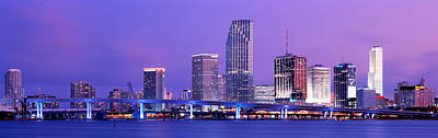 Florida Bridge Photograph - Miami Fl by Panoramic Images