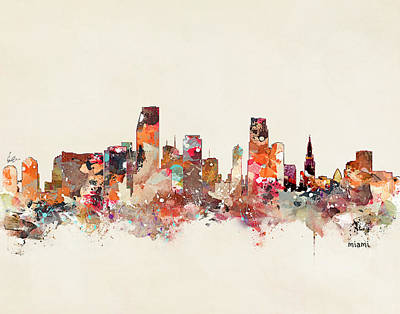 Painting - Miami Florida by Bri B