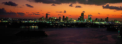 Miami, Florida, Usa Art Print by Panoramic Images
