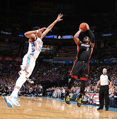 Photograph - Miami Heat V Oklahoma City Thunder by Nathaniel S. Butler
