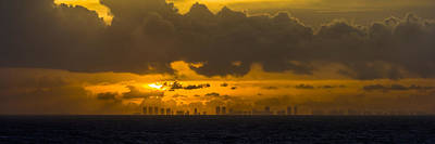 Photograph - Miami Sundown by Ed Gleichman