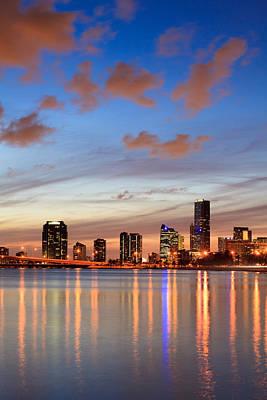 Miami Photograph - Miami Twilight by Jonathan Gewirtz