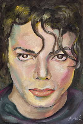 Michael Jackson Oil Painting - Michael Jackson by Marina Sotiriou