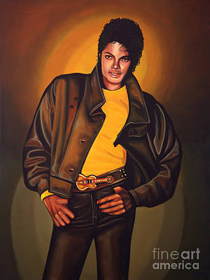 Concert Painting - Michael Jackson by Paul Meijering