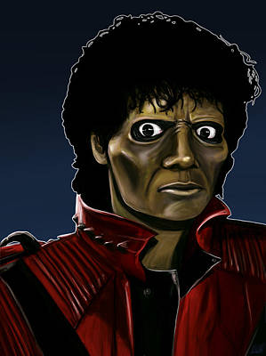 Painting - Michael Jackson Thriller by Michael Clarke