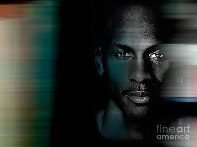 Michael Jordan Mixed Media - Michael Jordon by Marvin Blaine