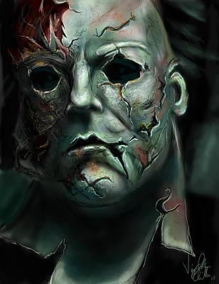 Horror Movies Drawing - Michael Myers by Vinny John Usuriello