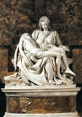 In The Round Photograph - Michelangelo 1475-1564. Pieta by Everett
