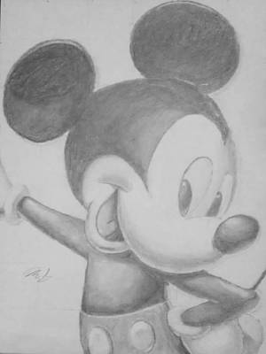 Drawing - Mickey by Milton  Gore