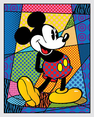 Engraving Digital Art - Mickey Spotlight by Gary Grayson