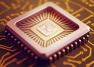 Component Photograph - Microchip by Ktsdesign
