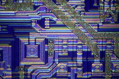 Microchip Photograph - Microchip Surface by Frank Fox
