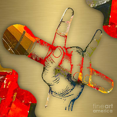 Mic Mixed Media - Microphone Collection by Marvin Blaine