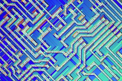 Microprocessor Chip Art Print