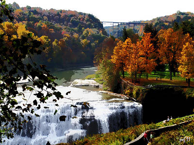 Middle Falls Letchworth State Park Art Print