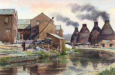 Middleport Pottery Art Print by Anthony Forster