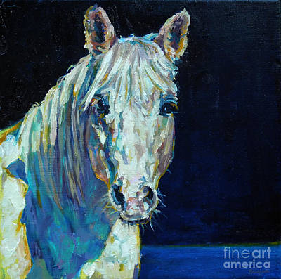 Nocturnal Animals Painting - Midnight Ride by Patricia A Griffin