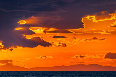 Summer Solstice Photograph - Midnight Sunset, Snaefellsnes Peninsula by Panoramic Images