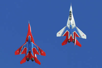 Photograph - Mig-29ub Jet Fighters Of The Russian by Artyom Anikeev