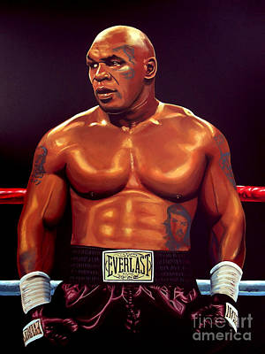 Mike Tyson Print by Paul Meijering