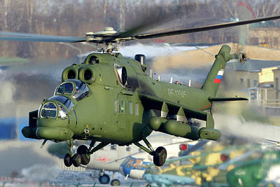 Photograph - Mil Mi-35ms Vip Transport Aircraft by Artyom Anikeev