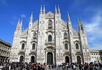 Photograph - Milan Duomo Cathedral by Valentino Visentini