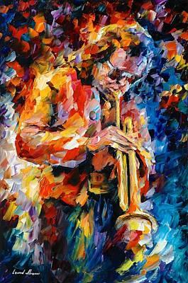Miles Davis Oil Painting - Miles Davis by Leonid Afremov