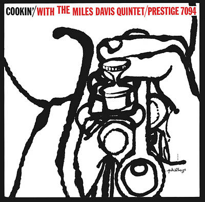 Miles Davis Quintet -  Cookin' With The Miles Davis Quintet Art Print by Concord Music Group