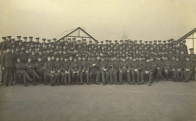 Military Officers On The Roof Of King Art Print